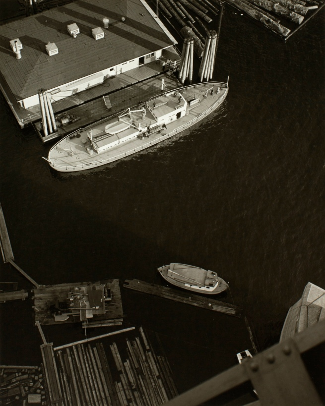 Minor White(American, 1908-1976) 'Boats at Dock' c. 1939