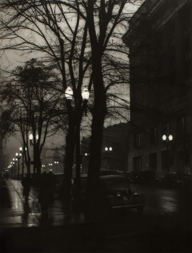 Minor White(American, 1908-1976) 'Southwest Fourth and Salmon Streets, Courthouse' c. 1939