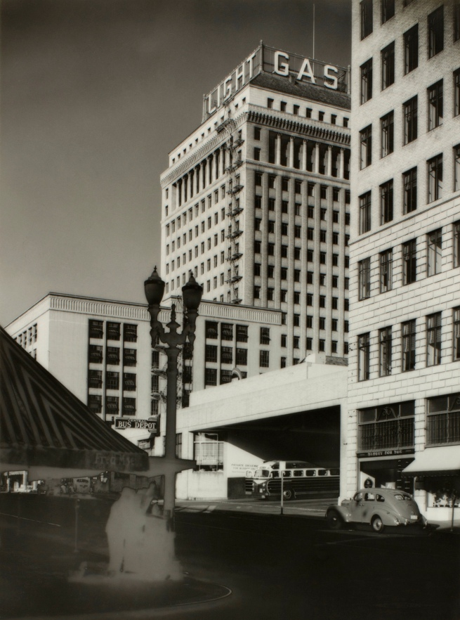 Minor White(American, 1908-1976) 'Fifth at Yamhill (Public Service Building)' c. 1939