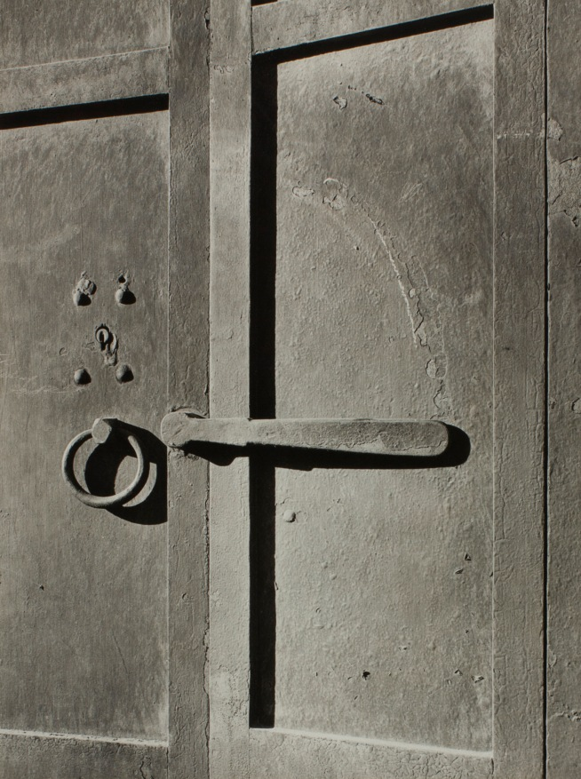 Minor White(American, 1908-1976) 'Door of Iron - First Brick Building in Portland, 1852 (Ladd and Tilton Building)' 1939
