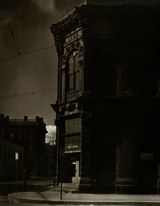 Minor White(American, 1908-1976) 'Ladd and Tilton Bank (1868 Southwest First and Stark Streets)' c. 1939