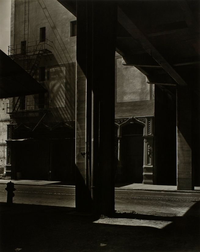 Minor White(American, 1908-1976) 'Front and Burnside' c. 1939
