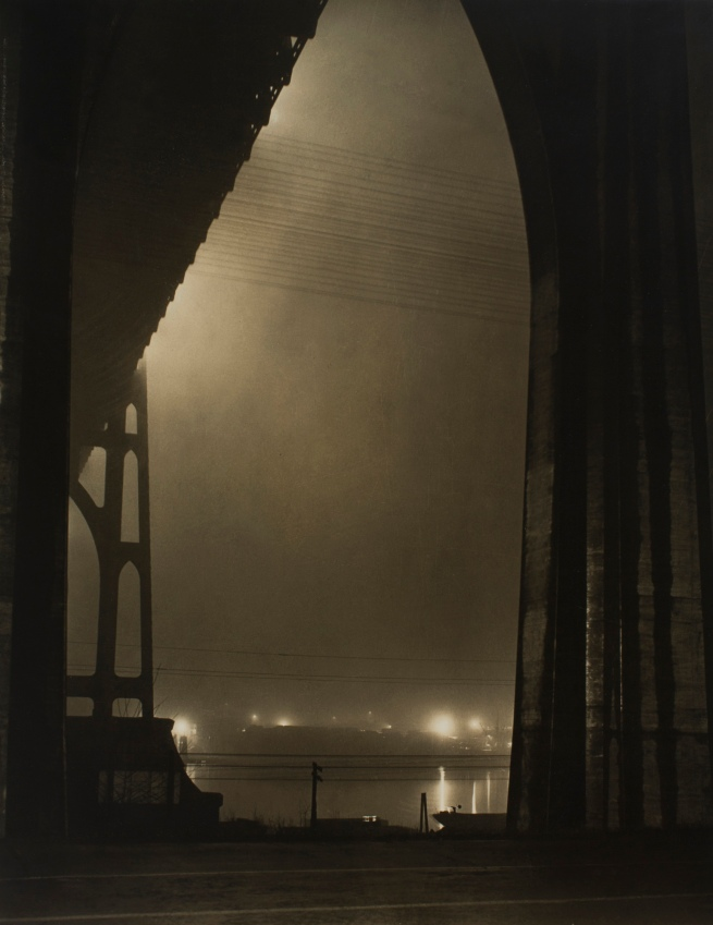 Minor White(American, 1908-1976) 'St. Johns Bridge' c. 1939