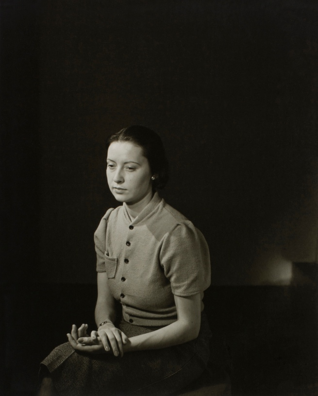 Minor White (American, 1908-1976) 'Untitled (Woman Sitting)' c. 1939