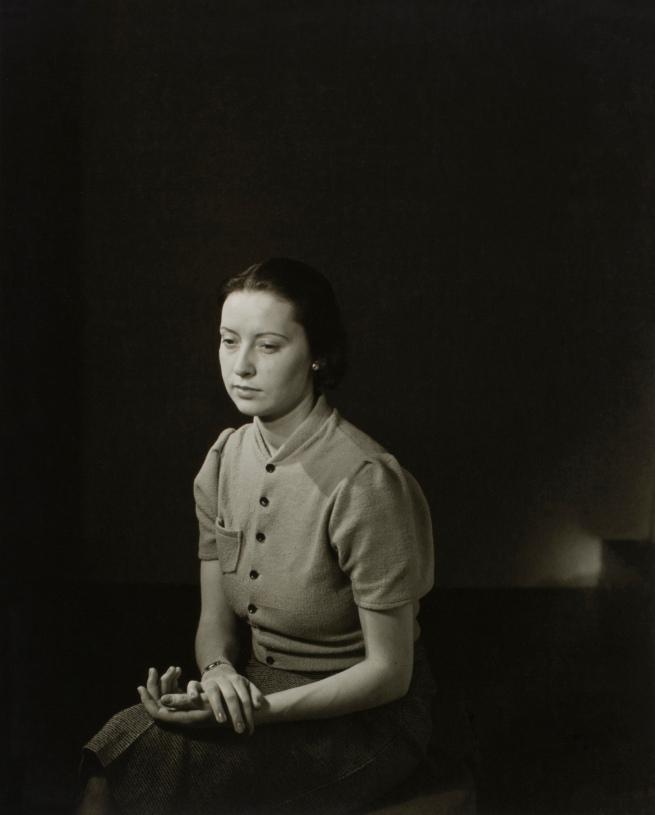 Minor White(American, 1908-1976) 'Untitled (Woman Sitting)' c. 1939