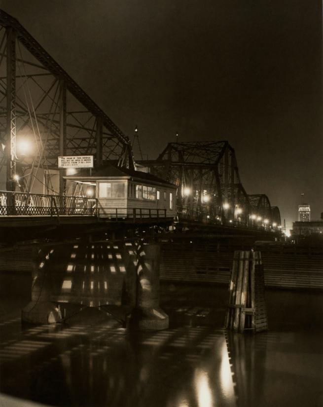 Minor White(American, 1908-1976) 'Morrison Bridge - Winter' 1938
