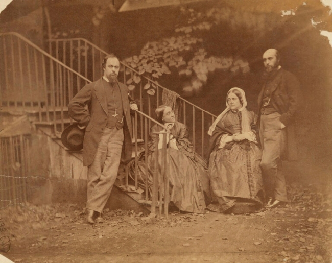 Lewis Carroll (1832-98) 'The Rossetti Family' 7 October 1863