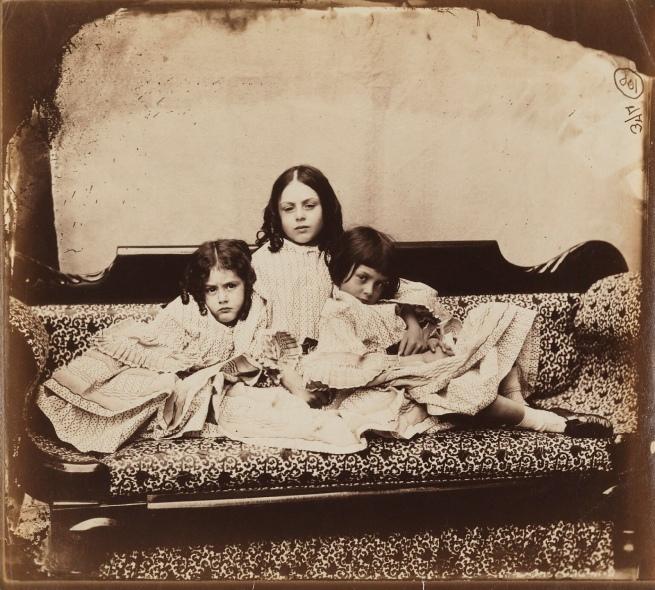 Lewis Carroll (1832-98) 'Edith Mary Liddell; Ina Liddell; Alice Liddell Summer' 1858