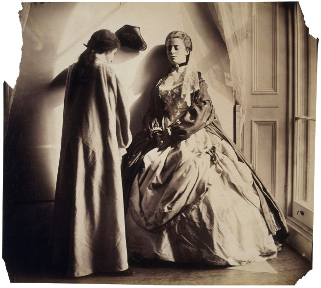 Clementina Hawarden (1822-65) 'Photographic Study (Clementina and Isabella Grace Maude)' 1863-64