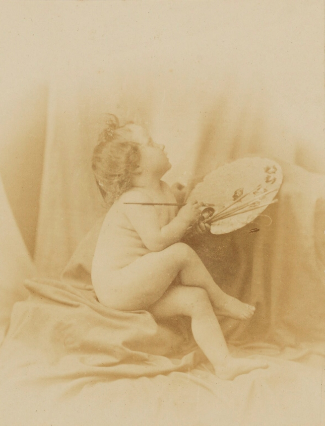 Oscar Rejlander (1813-75) ''Art must assist Photography' (Putto as Allegory of Painting)' 1856