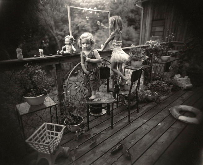 Sally Mann (American, b. 1951) 'Blowing Bubbles' 1987