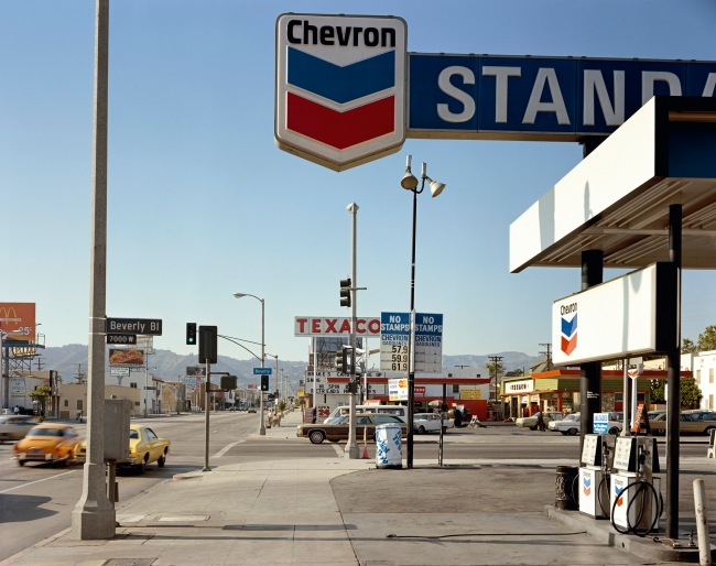 Stephen Shore (American, b. 1947) 'Beverly Boulevard and La Brea Avenue, Los Angeles, California, June 21, 1975'