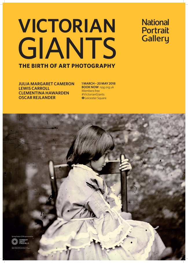 Poster for the exhibition 'Victorian Giants: The Birth of Art Photography' at the National Portrait Gallery, London