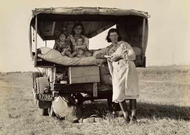 Dorothea Lange(American, 1895-1965) 'Migrant family, Texas' 1936