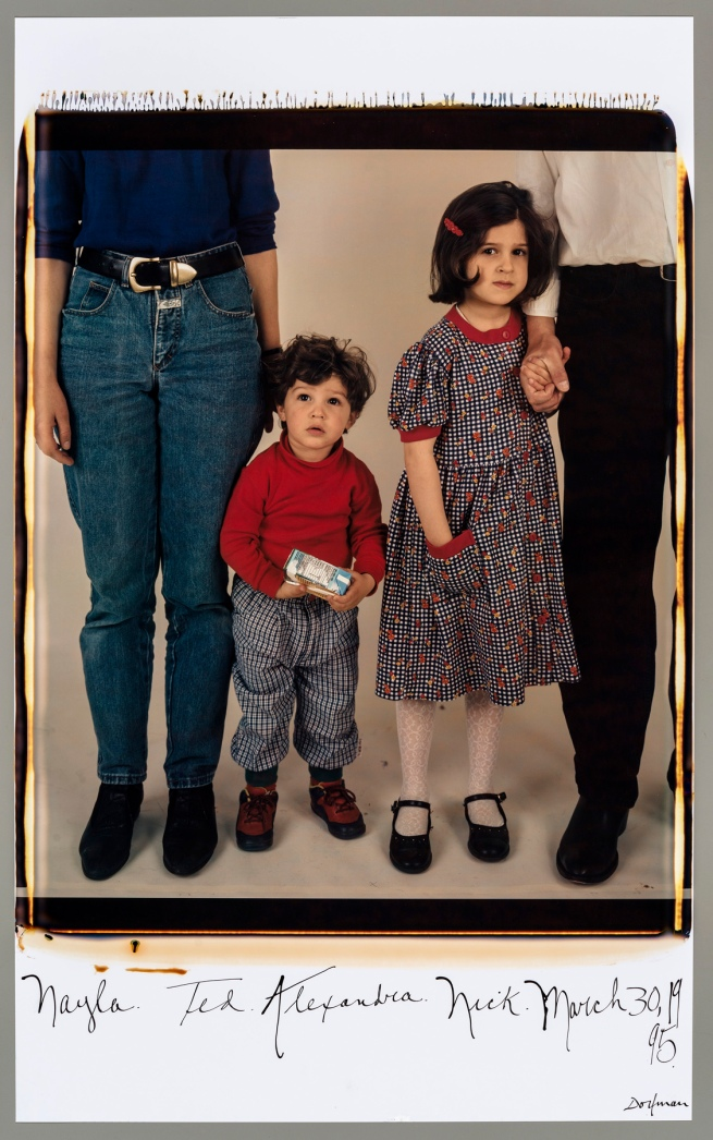 Elsa Dorfman (American, born in 1937) 'Nayla, Ted, Alexandra, Nick, March 30, 1995' 1995