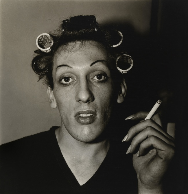 Diane Arbus (1923-71) 'A young man in curlers at home on West 20th St., N.Y.C. 1966' 1966