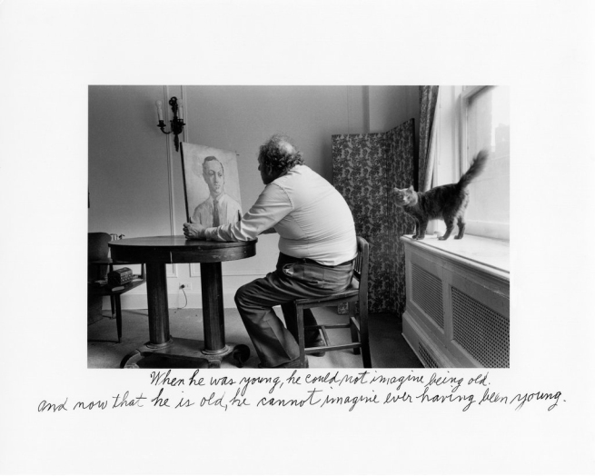 Duane Michals (American, born in 1932) 'When he was young, he could not imagine being old. And now that he is old, he cannot imagine ever having been young' 1979