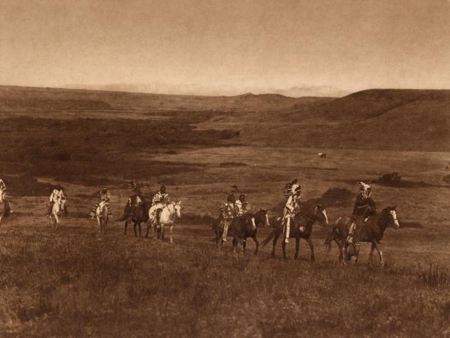 Edward S. Curtis (1868-1952) 'The land of the Atsina' c. 1908