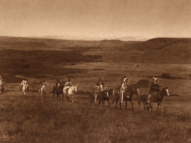 Edward S. Curtis (1868-1952) 'The land of the Atsina' c. 1908