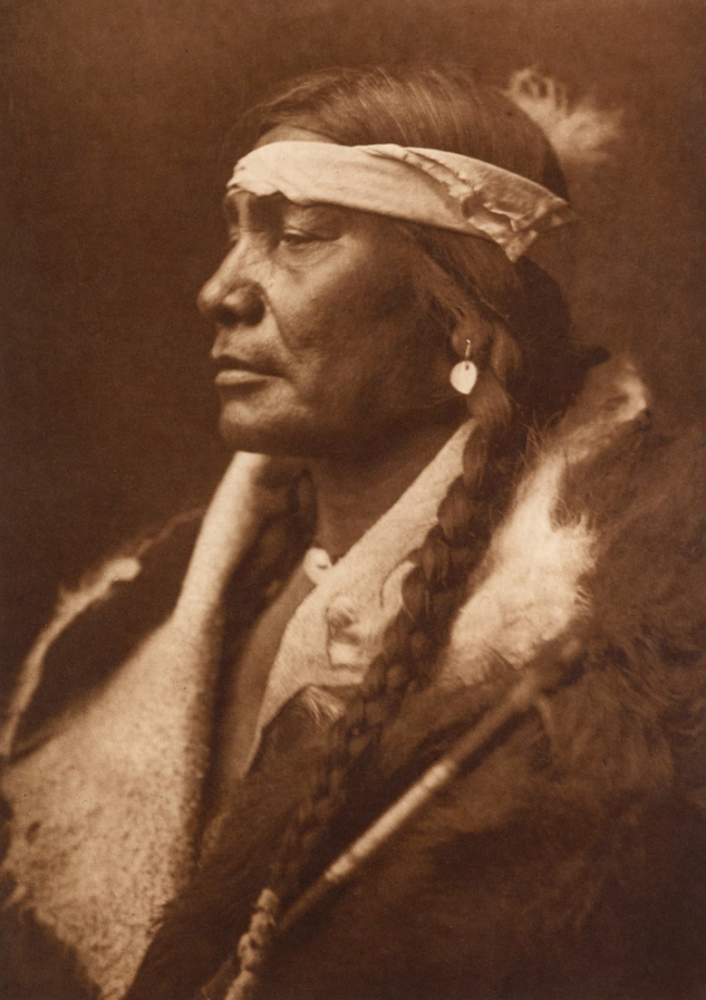 Edward S. Curtis (1868-1952) 'Assiniboin Boy - Atsina' c. 1908