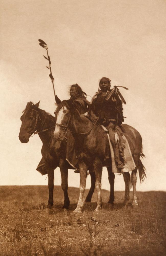 Edward S. Curtis (1868-1952) 'Atsina chiefs' c. 1908