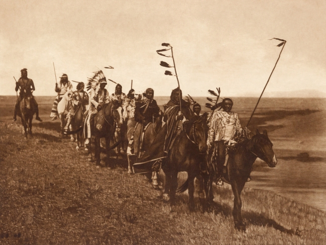 Edward S. Curtis (1868-1952) 'On the war path - Atsina' c. 1908