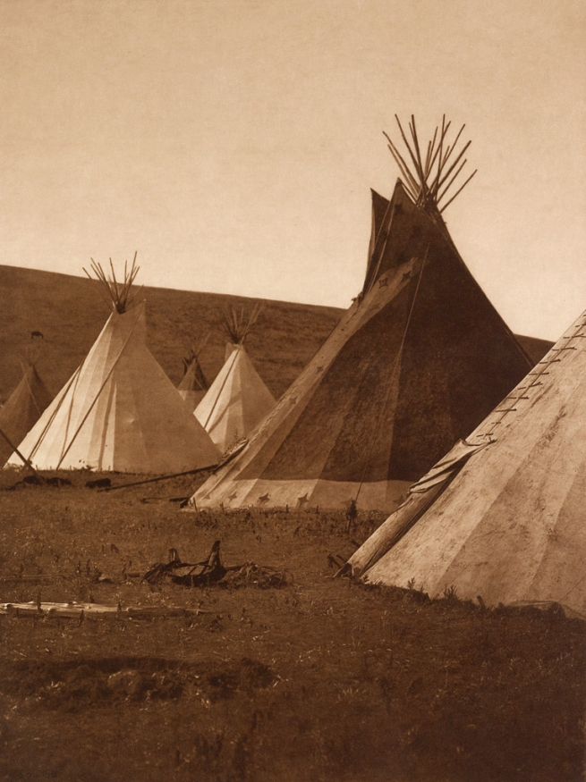 Edward S. Curtis (1868-1952) 'Atsina Camp' c. 1908
