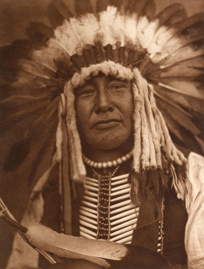 Edward S. Curtis (1868-1952) 'Yellow Owl - Mandan' c. 1908