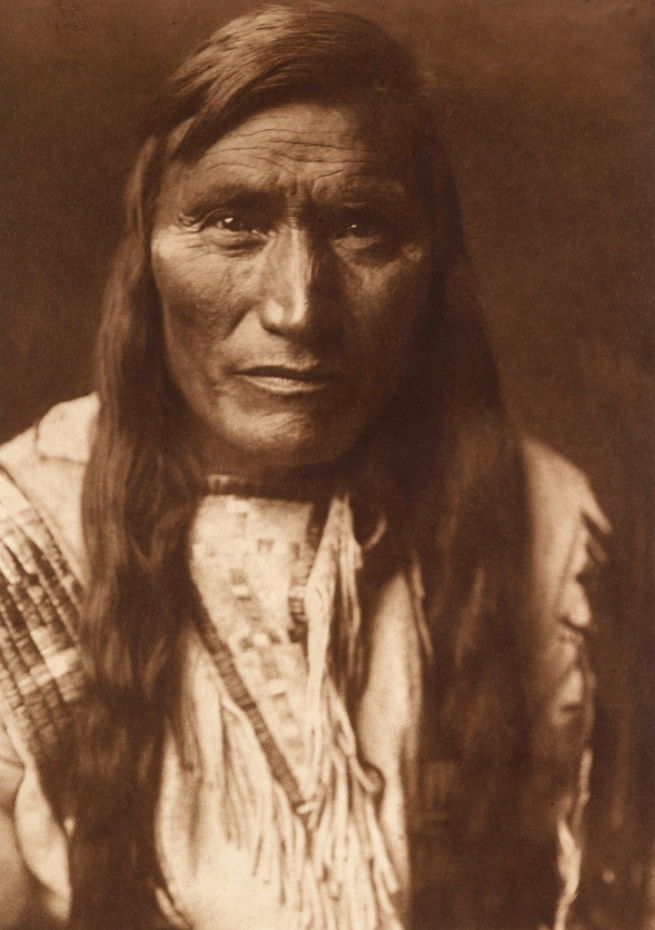 Edward S. Curtis (1868-1952) 'Head Dress - Atsina' c. 1908