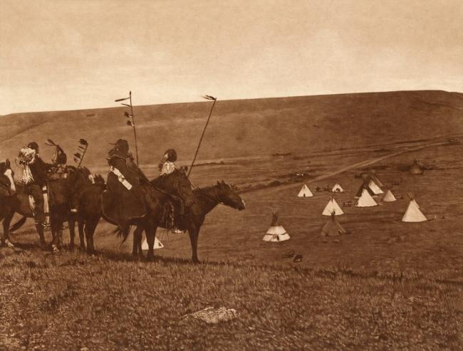 Edward S. Curtis (1868-1952) 'War party's farewell - Atsina' c. 1908