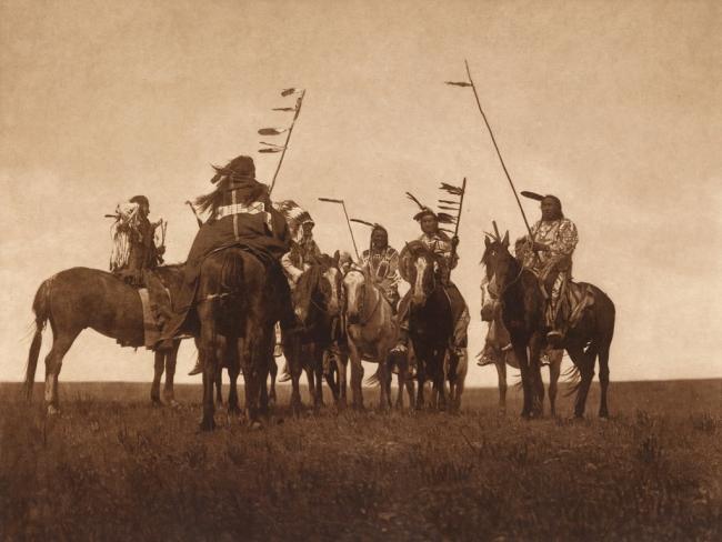 Edward S. Curtis (1868-1952) 'Atsina warriors' c. 1908
