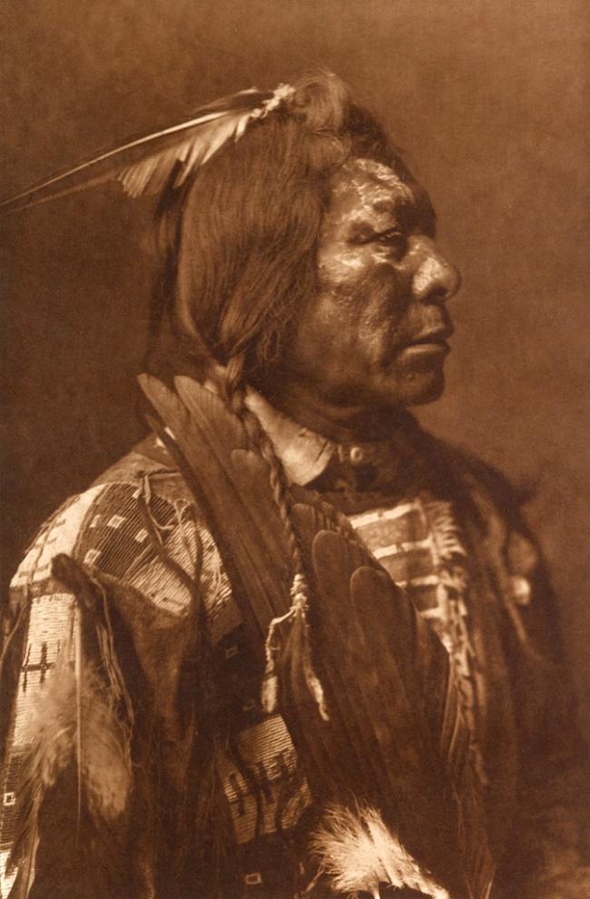 Edward S. Curtis (1868-1952) 'Lone Flag - Atsina' c. 1908
