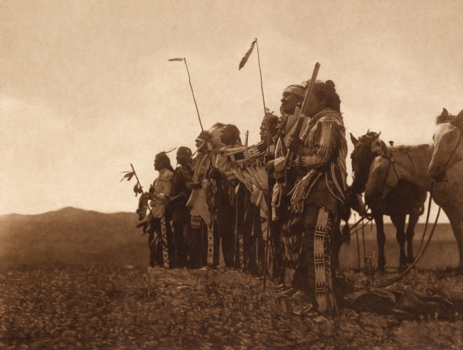 Edward S. Curtis (1868-1952) 'Awaiting the scouts return, Atsina' c. 1908