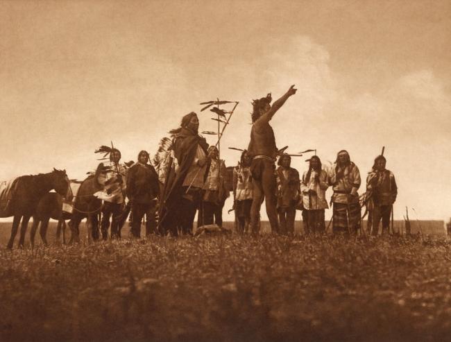 Edward S. Curtis (1868-1952) 'Scout's report - Atsina' c. 1908