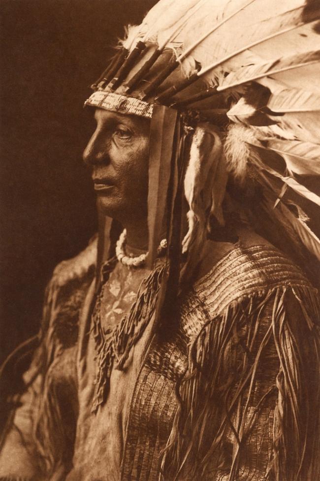 Edward S. Curtis (1868-1952) 'White Shield - Arikara' c. 1908