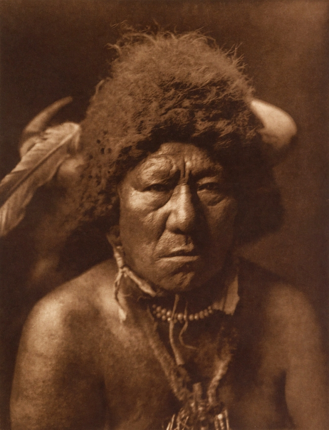 Edward S. Curtis (1868-1952) 'Bull Neck - Arikara' c. 1908