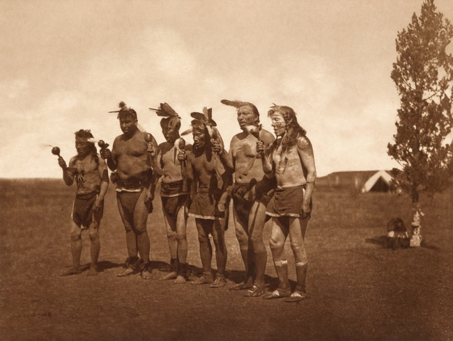 Edward S. Curtis (1868-1952) '[Arikara medicine ceremony - the Bears]' c. 1908