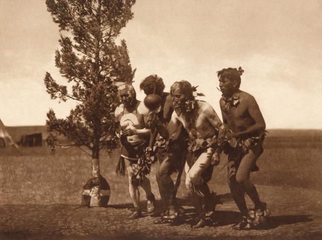 Edward S. Curtis (1868-1952) 'Arikara medicine ceremony - Dance of the black-tail deer' c. 1908