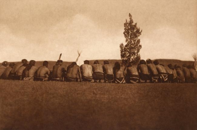 Edward S. Curtis (1868-1952) 'Arikara medicine fraternity - The prayer' c. 1908