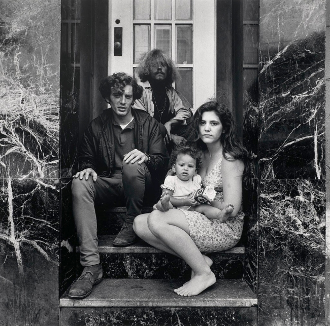 Elaine Mayes (American, born in 1936) 'Group Portrait, Haight-Ashbury, San Francisco' c. 1970