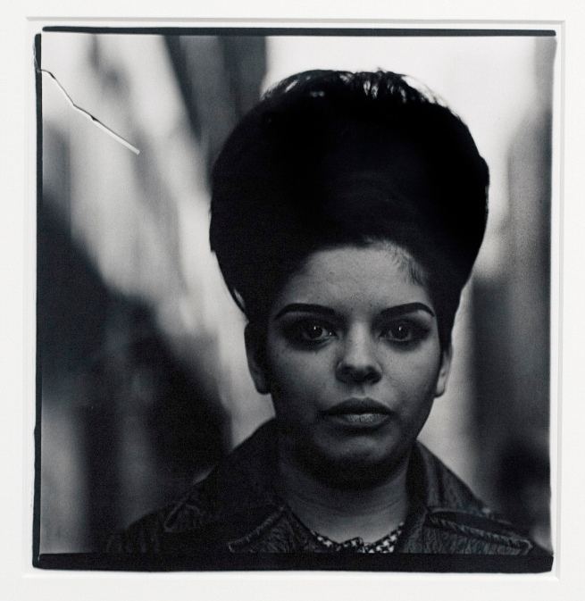 Diane Arbus (1923-71) 'Woman with a beehive hairdo' 1965 (installation view)