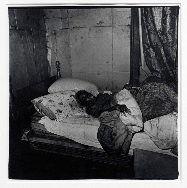 Diane Arbus (1923-71) 'Old black woman with gnarled hand' 1968 (installation view)