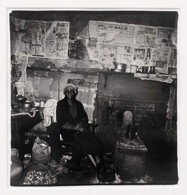 Diane Arbus (1923-71) 'Addie Taylor in her shack, Beaufort, South Carolina' 1968 (installation view)