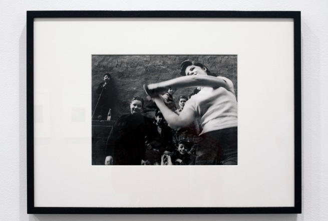 Installation view of William Klein's 'Stickball gang, New York' 1955