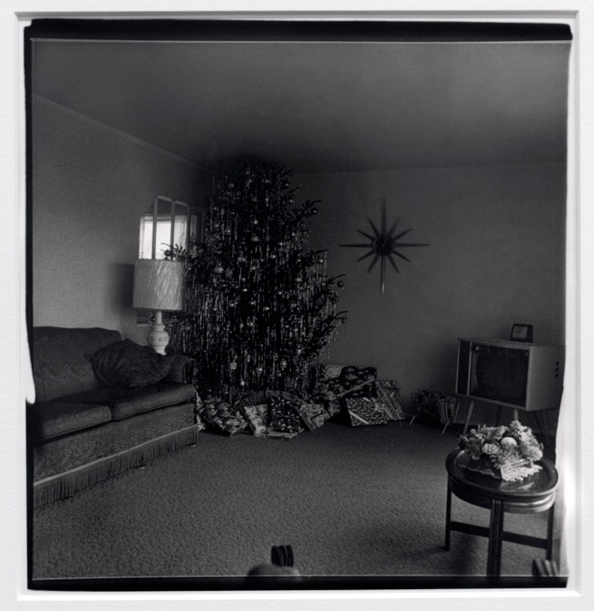 Diane Arbus (1923-71) 'Xmas tree in a living room in Levittown, L.I. 1963' 1963