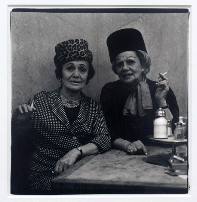 Diane Arbus (1923-71) 'Two Ladies at the Automat, New York City, 1966' 1966 (installation view)