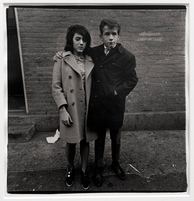 Diane Arbus (1923-71) 'Teenage couple on Hudson Street, N.Y.C. 1963' 1963 (installation view)