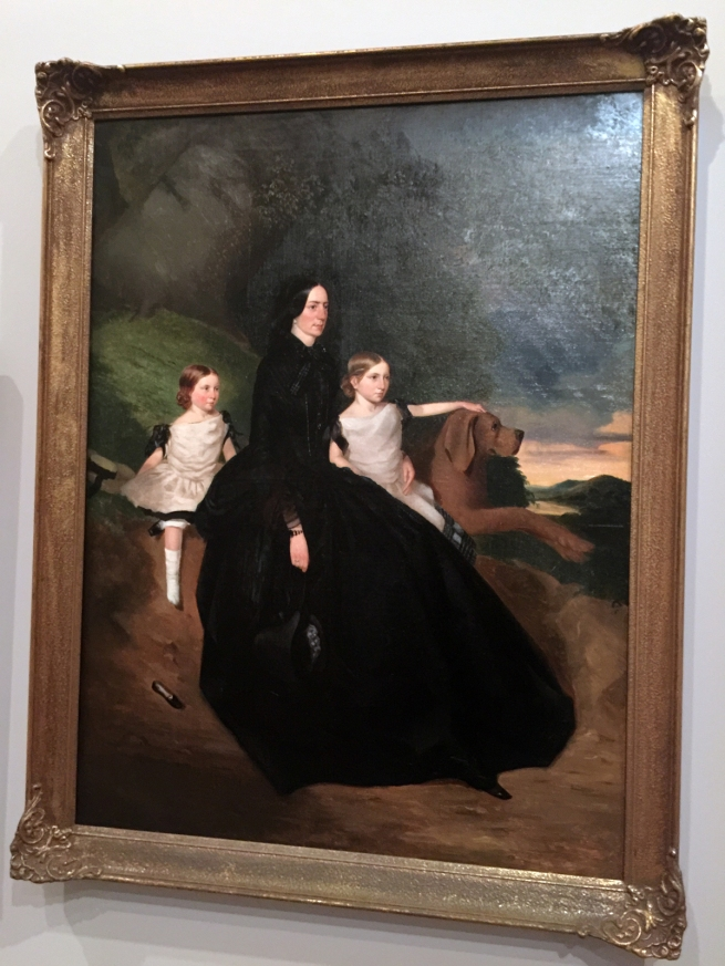 Robert Dowling (England 1827-86, Australia 1834-57, 1884-86) 'Jane Sceales with daughters, Mary Jane and Hilda' c. 1856 (installation view)