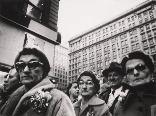 William Klein(born April 19, 1928) 'Christmas shoppers, near Macy's, New York' 1954