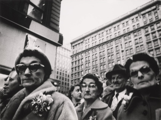 William Klein (born April 19, 1928) 'Christmas shoppers, near Macy's, New York' 1954